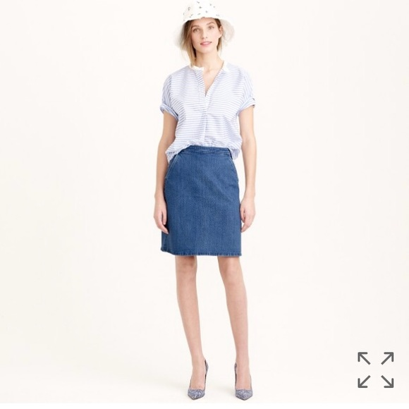 261925bc5b J. Crew Skirts | J Crew High Waister Denim Skirt Jean Mini 28 0193 ...